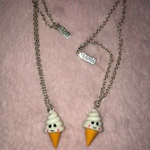 Claire's Best Friends Ice Cream Cone Necklaces